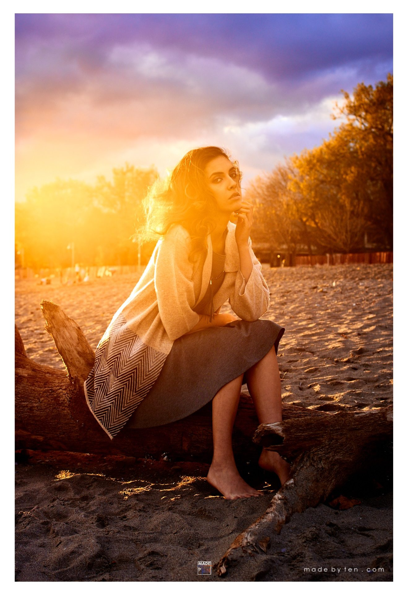 Toronto Sunset Beach Fashion Editorial - GTA Women Lifestyle Photography