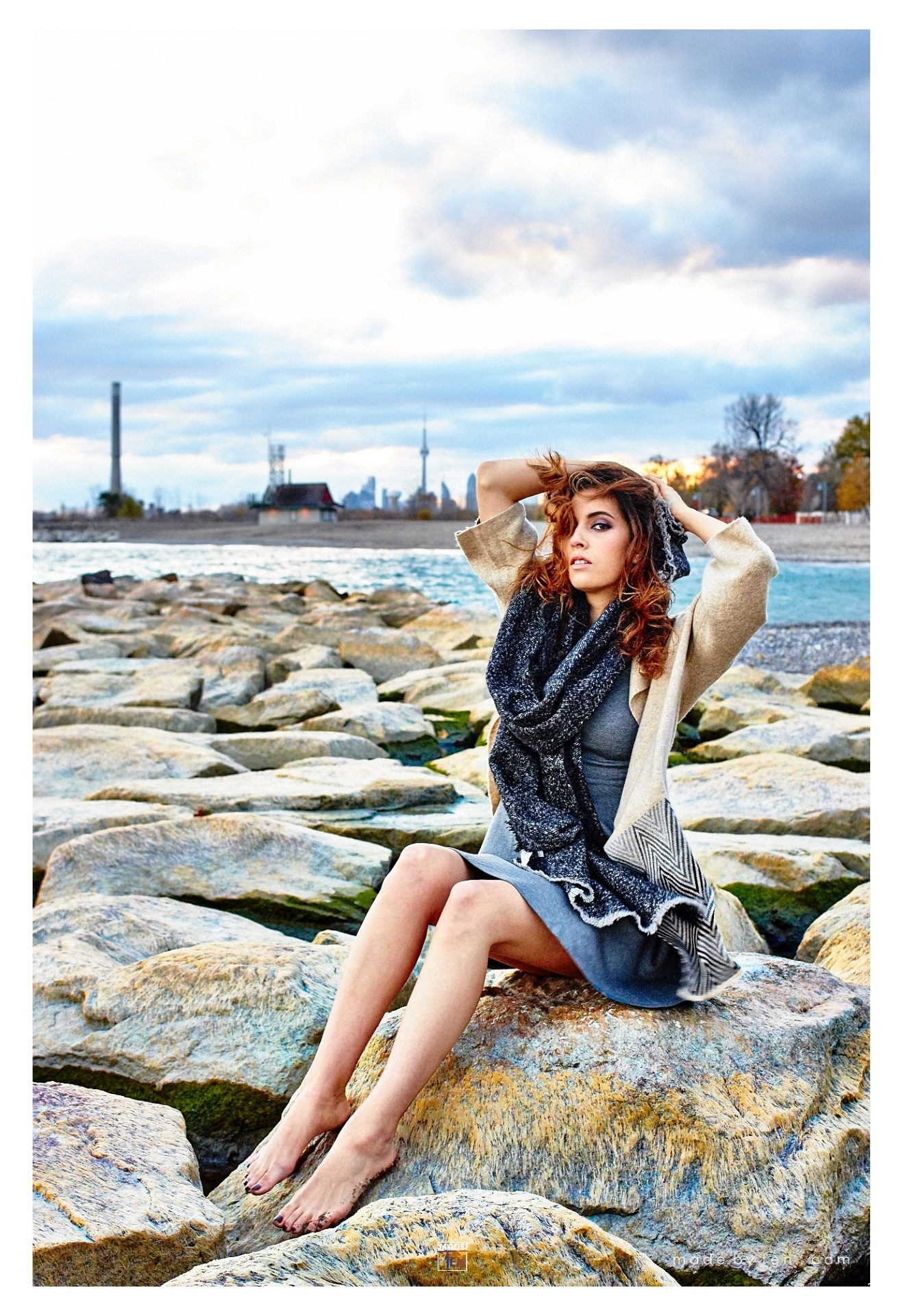 Toronto Beach Fashion Editorial - GTA Women Lifestyle Photography