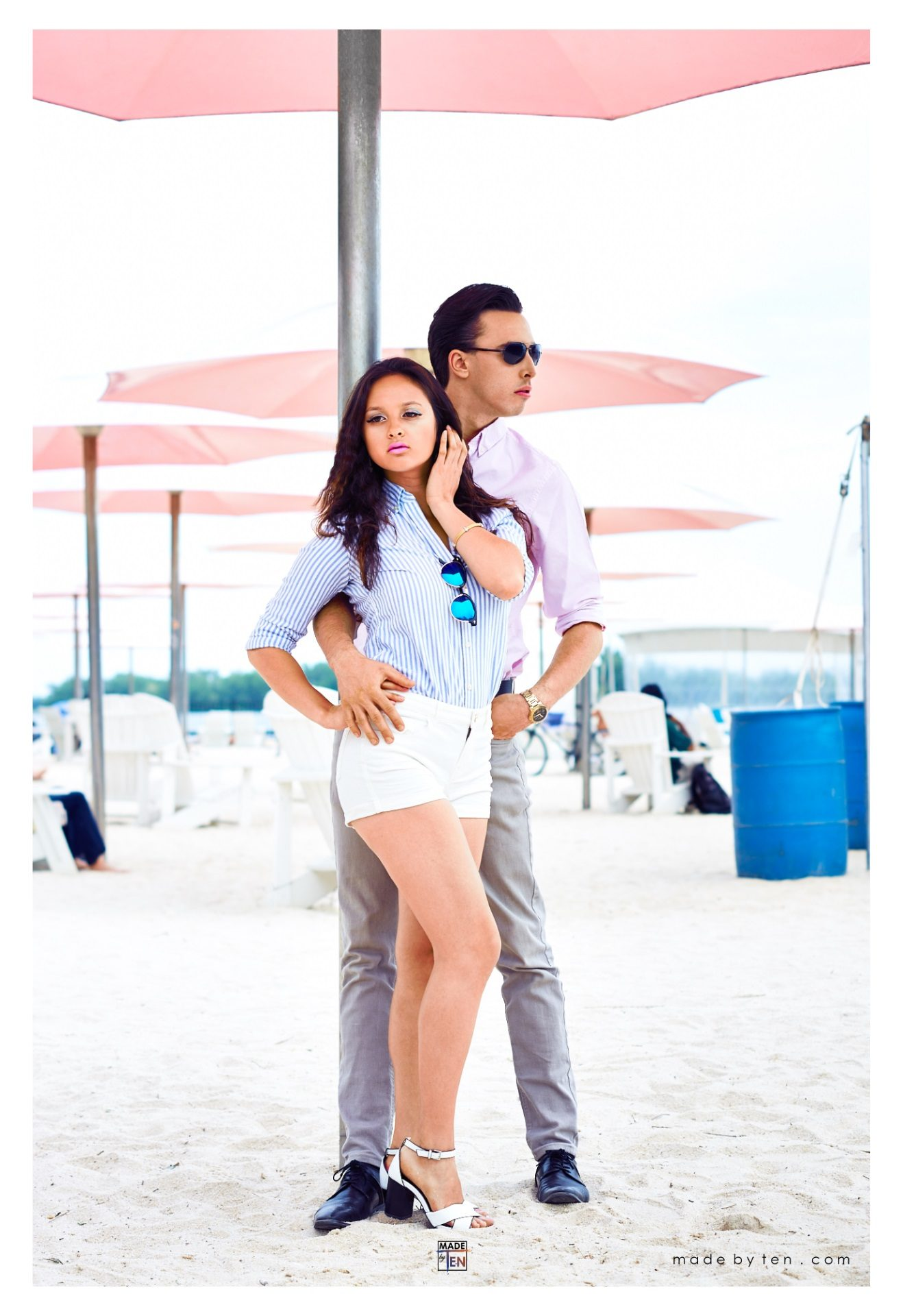 Sugar Beach Couple Fashion Editorial - GTA Women Lifestyle Photography