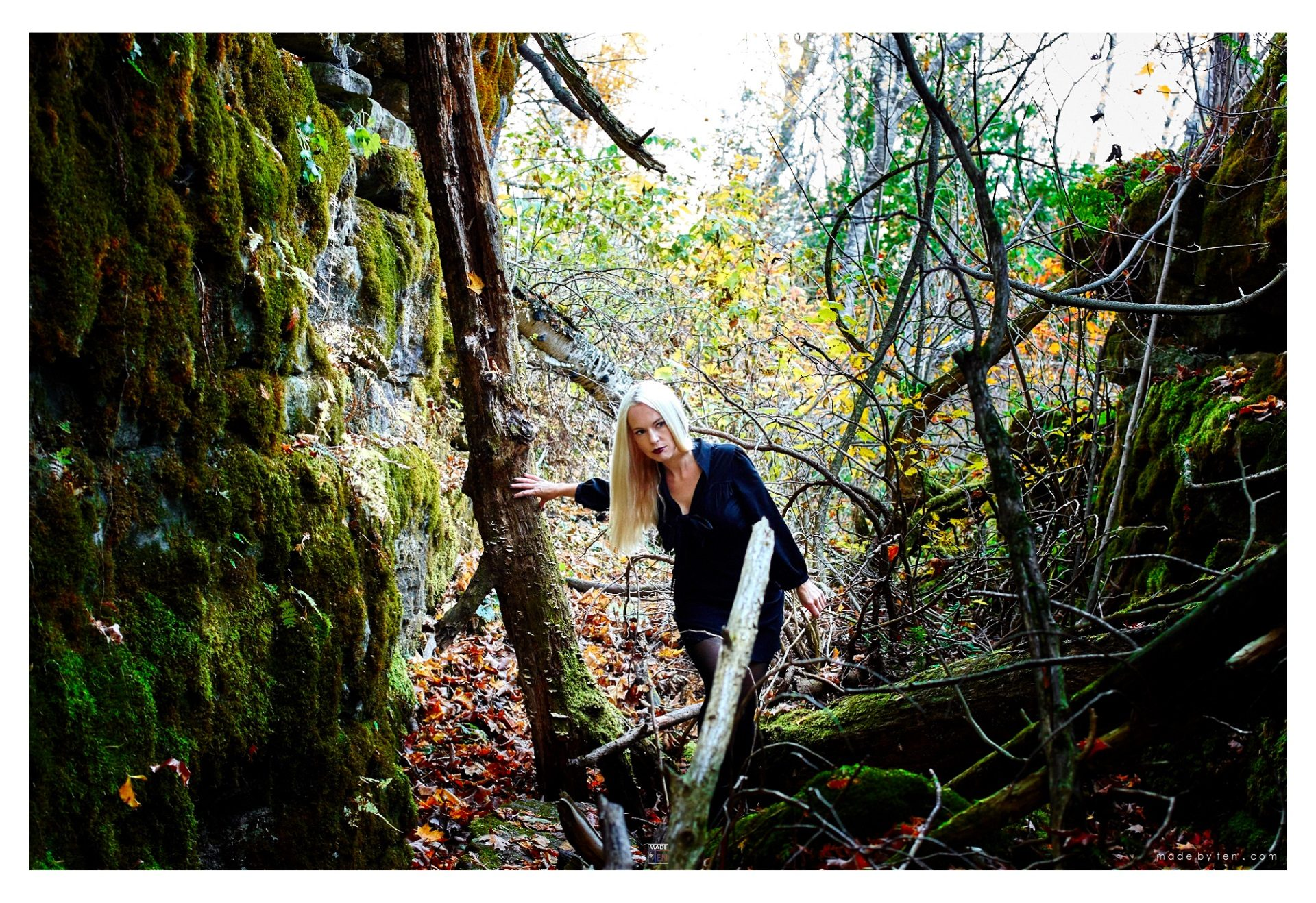 Forest Cave Exploring - GTA Women Fantasy Photography