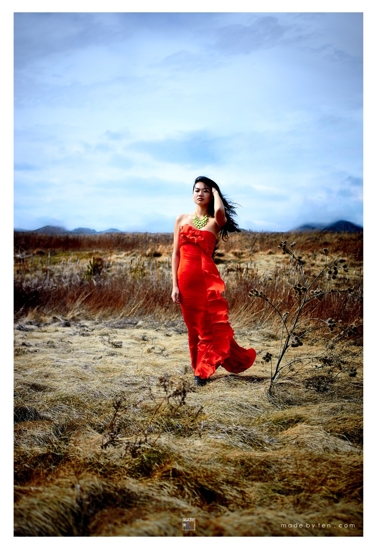 Made-by-Ten-Modern-Creative-Fine-Art-Portrait-Photography-GTA-Women-Toronto-Desert-Red-Dress-Model-Mountains-1