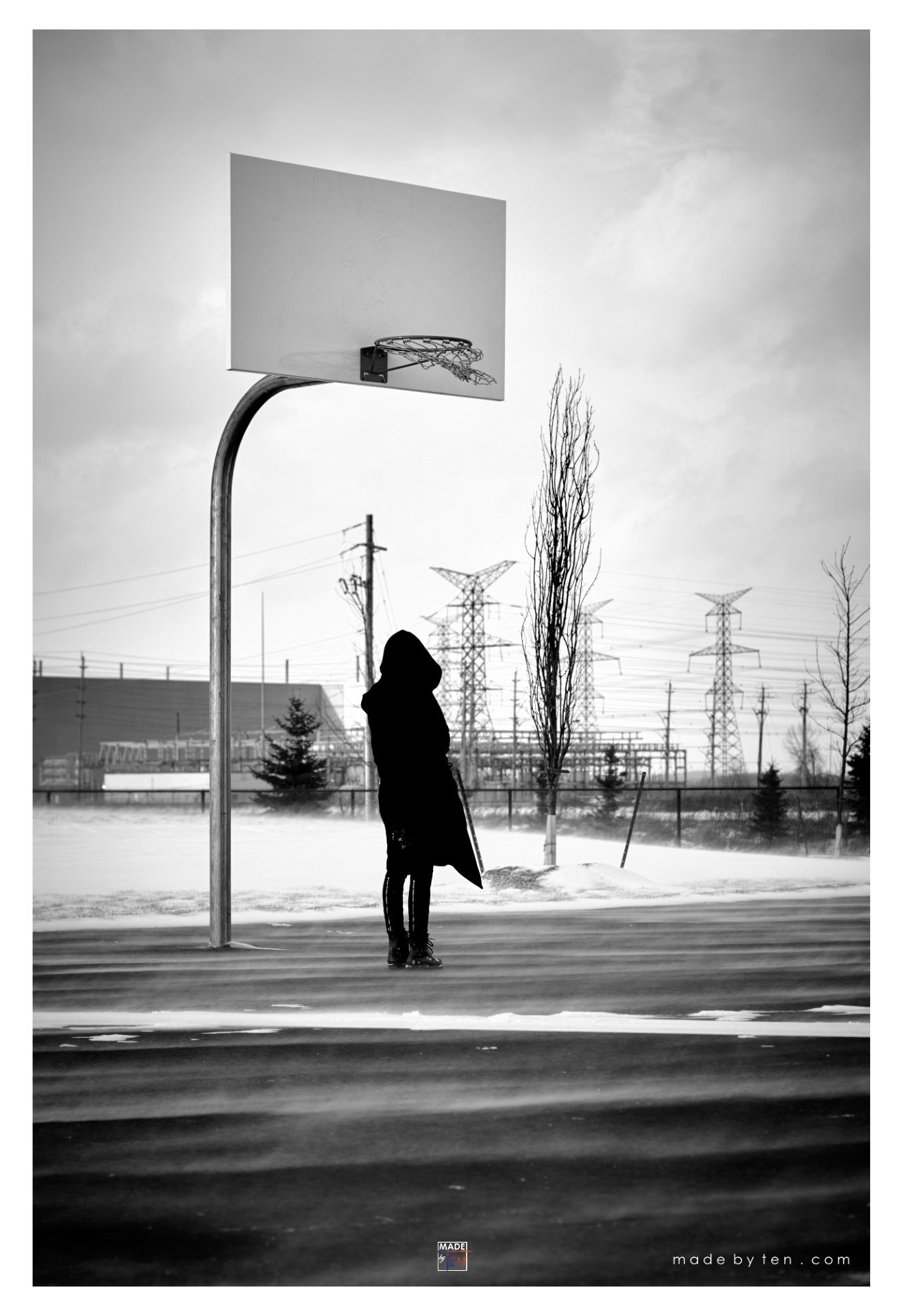 Made-by-Ten-Modern-Creative-Fine-Art-Portrait-Photography-GTA-Women-Toronto-Winter-Cold-Black-and-White-1