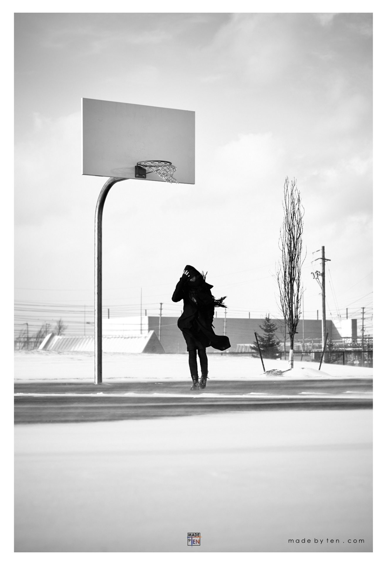 Made-by-Ten-Modern-Creative-Fine-Art-Portrait-Photography-GTA-Women-Toronto-Winter-Cold-Black-and-White-2