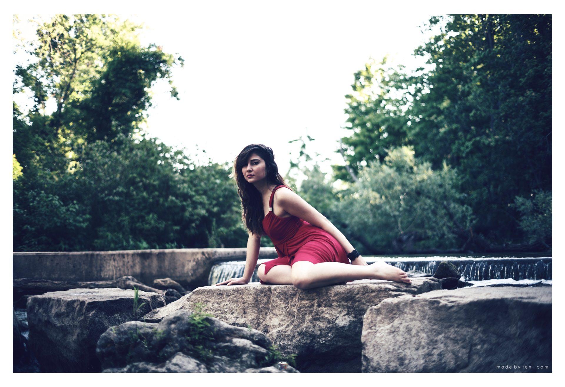 Woman Creek Rocks - GTA Women Lifestyle Photography