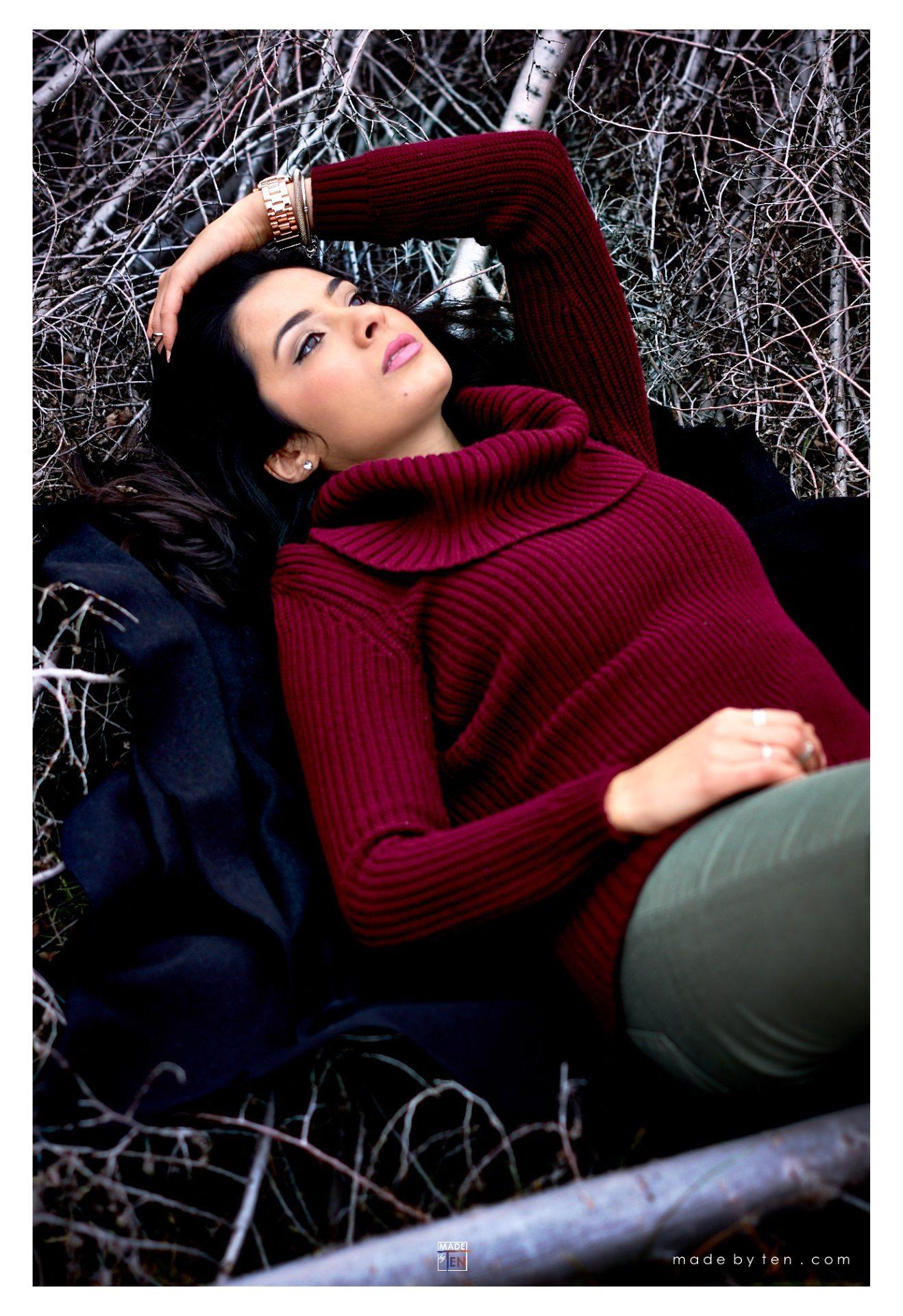 Woman Lying Branches - GTA Women Lifestyle Photography