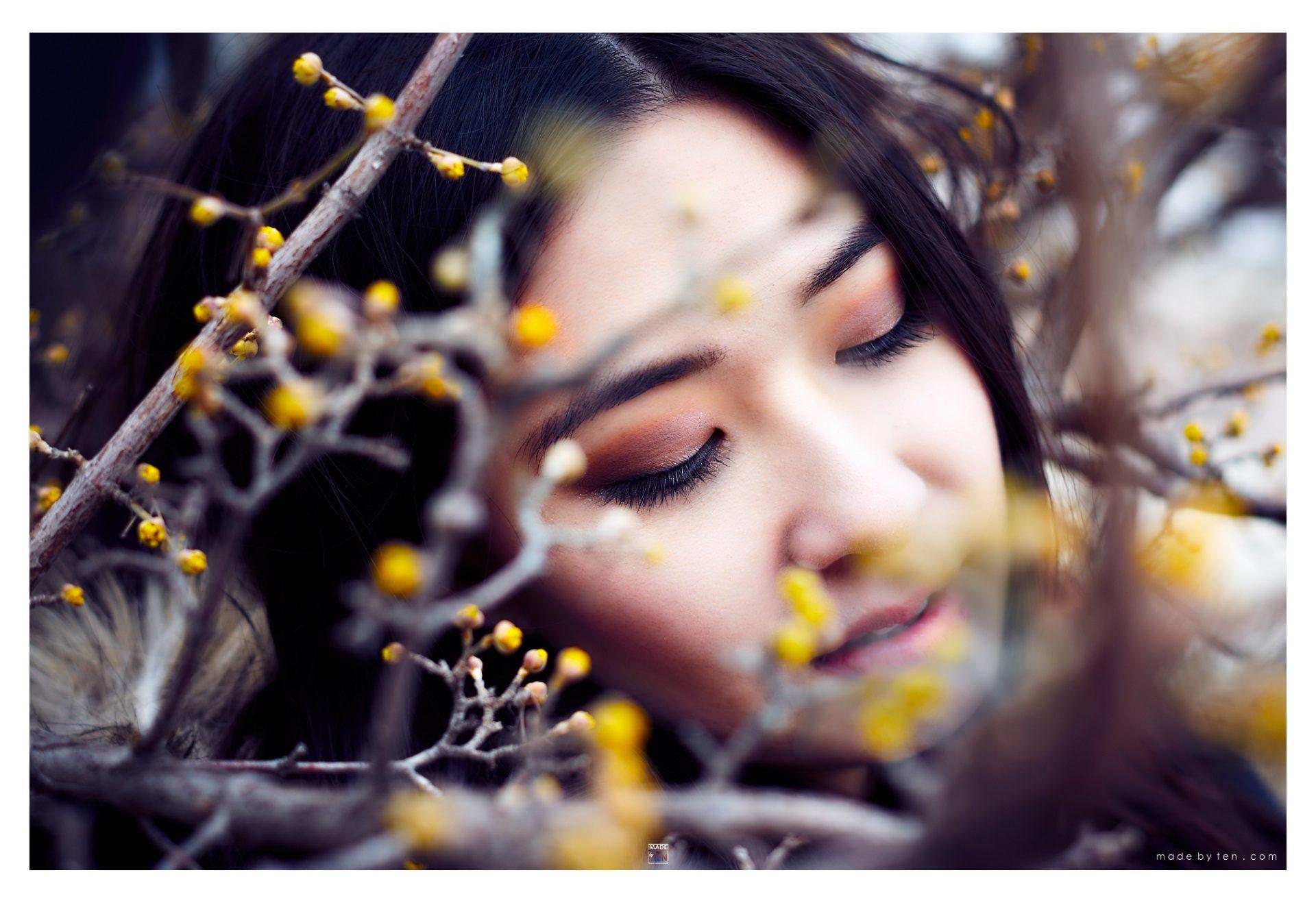 Woman Headshot Yellow Buds - GTA Women Lifestyle Photography