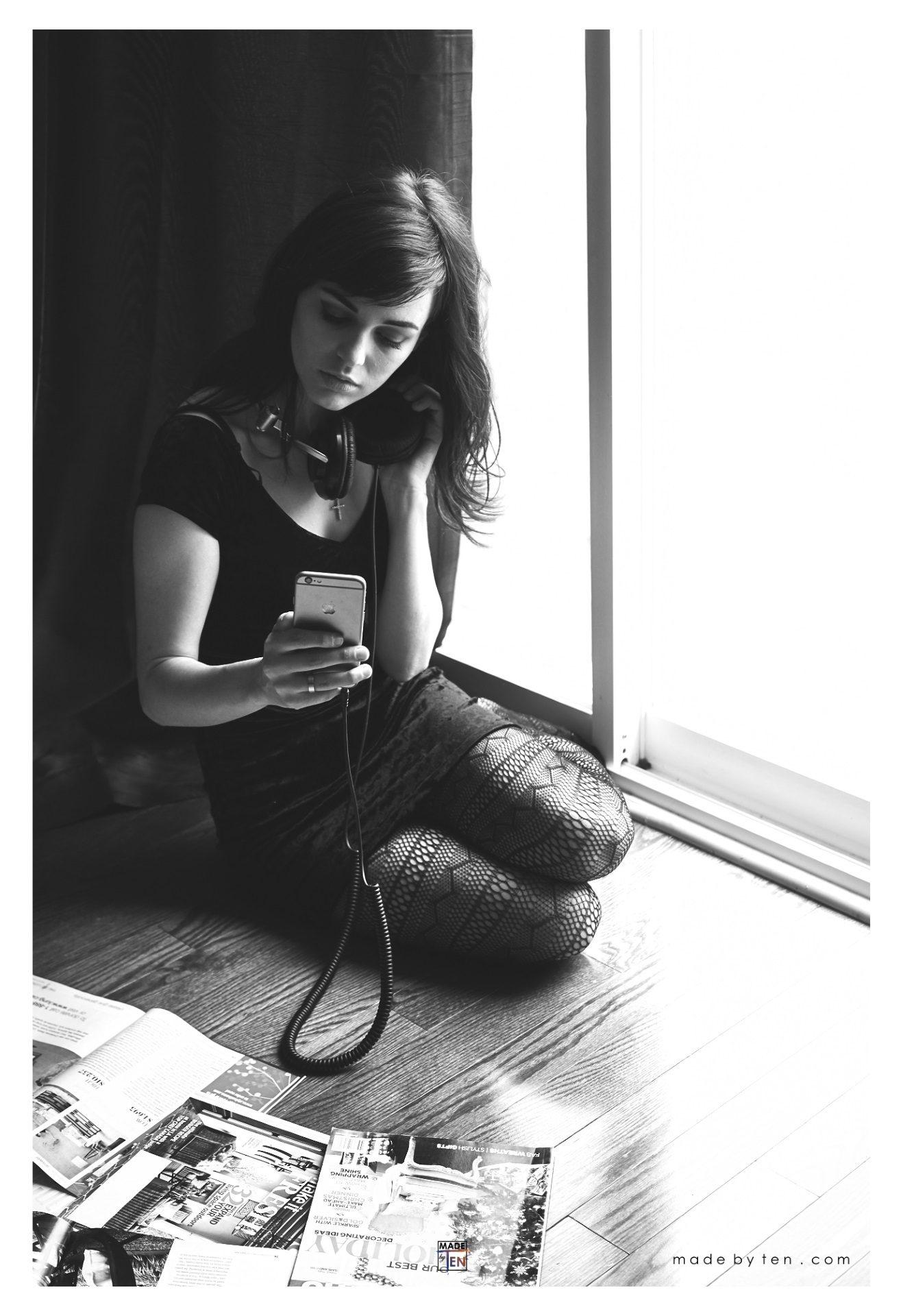 Woman Music Window - GTA Women Lifestyle Photography