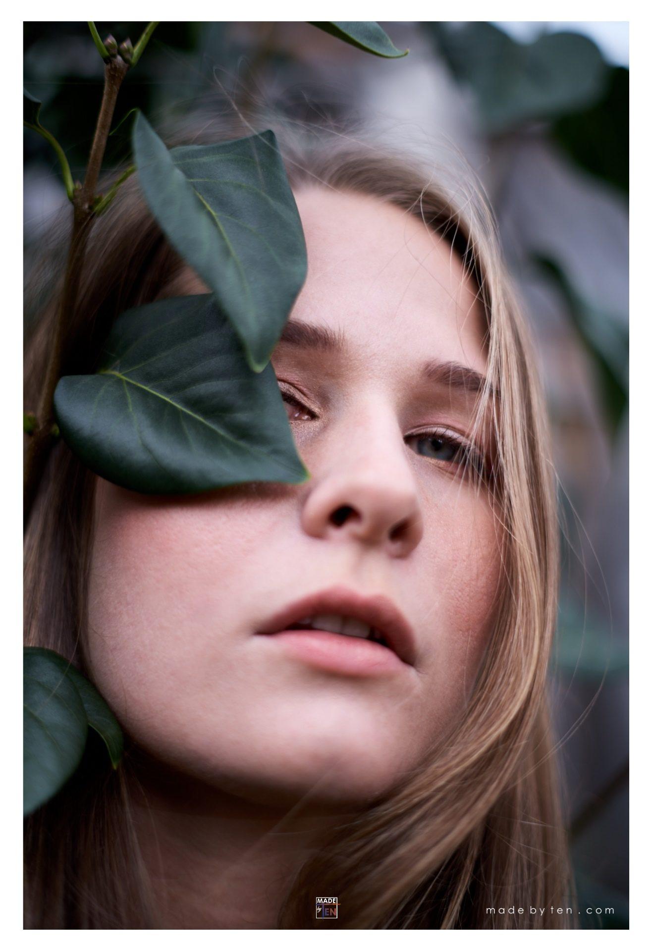 Leaf Over Eye - GTA Women Art Photography
