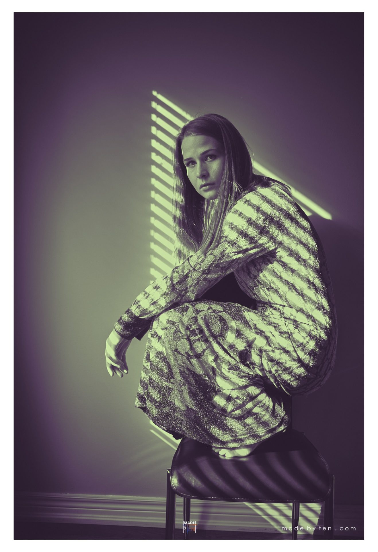 Crouching on Chair - GTA Women Art Photography