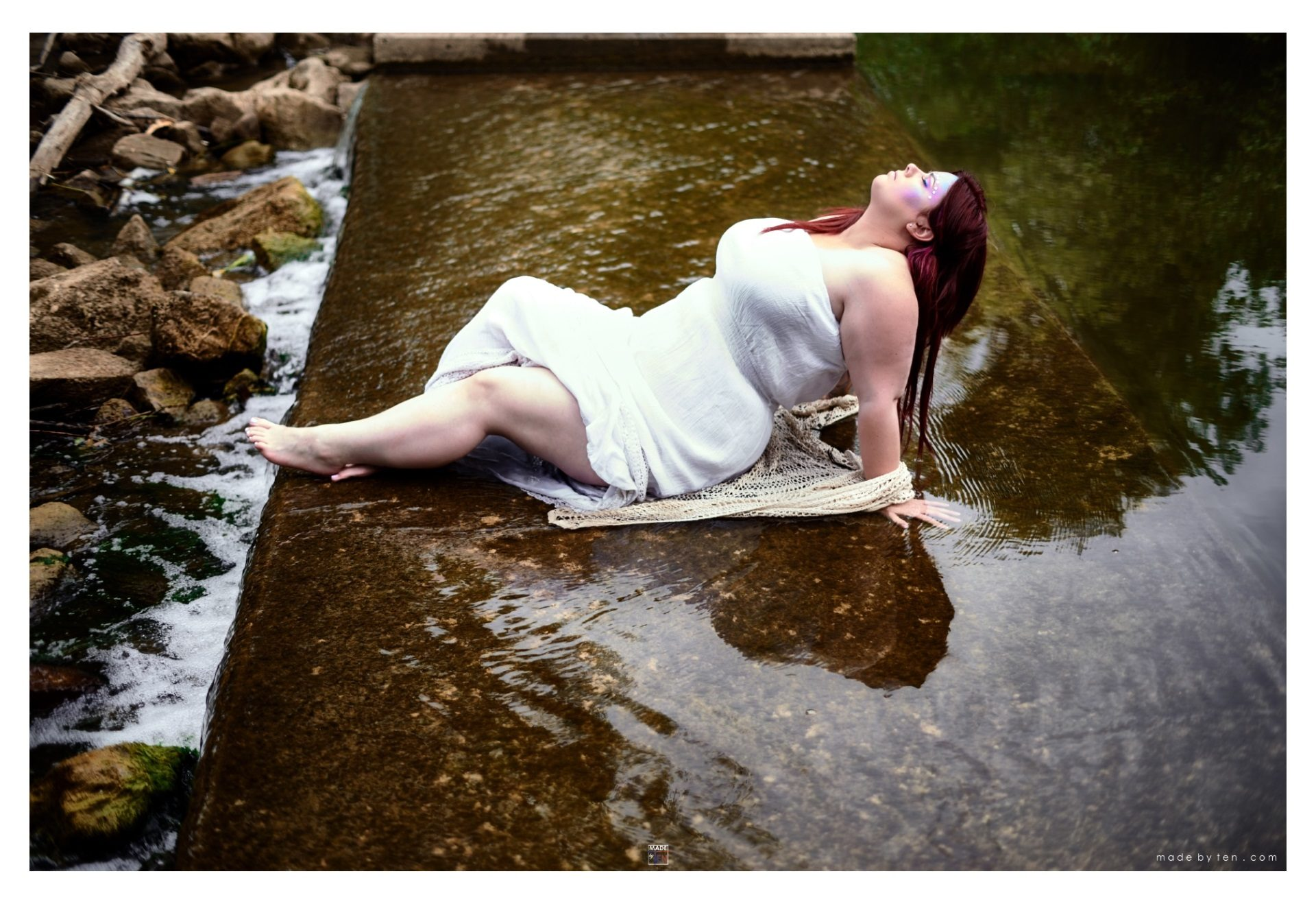 Woman Sitting in Pond Water - GTA Women Fantasy Photography