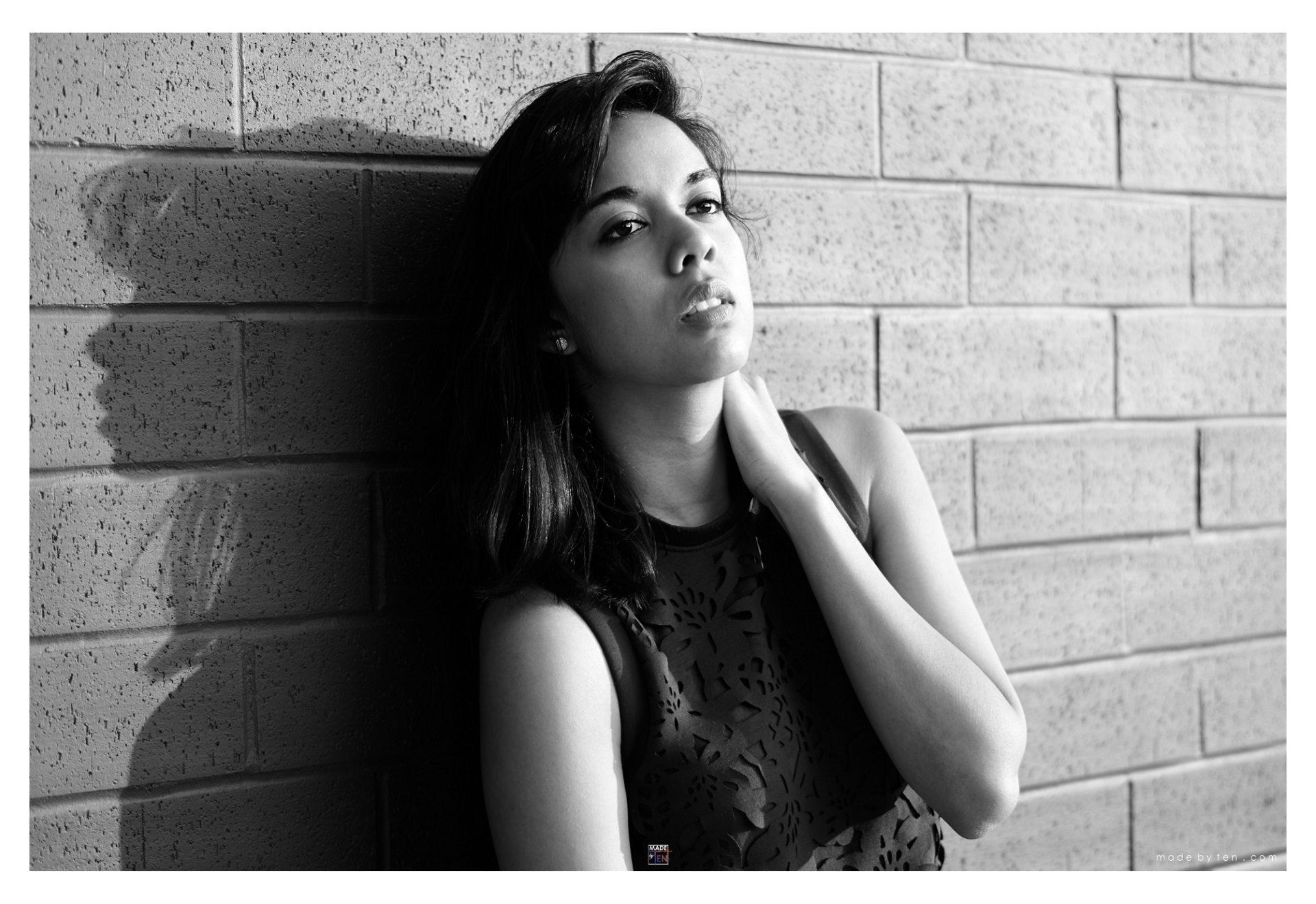 Woman Brick Wall - GTA Women Portrait Photography