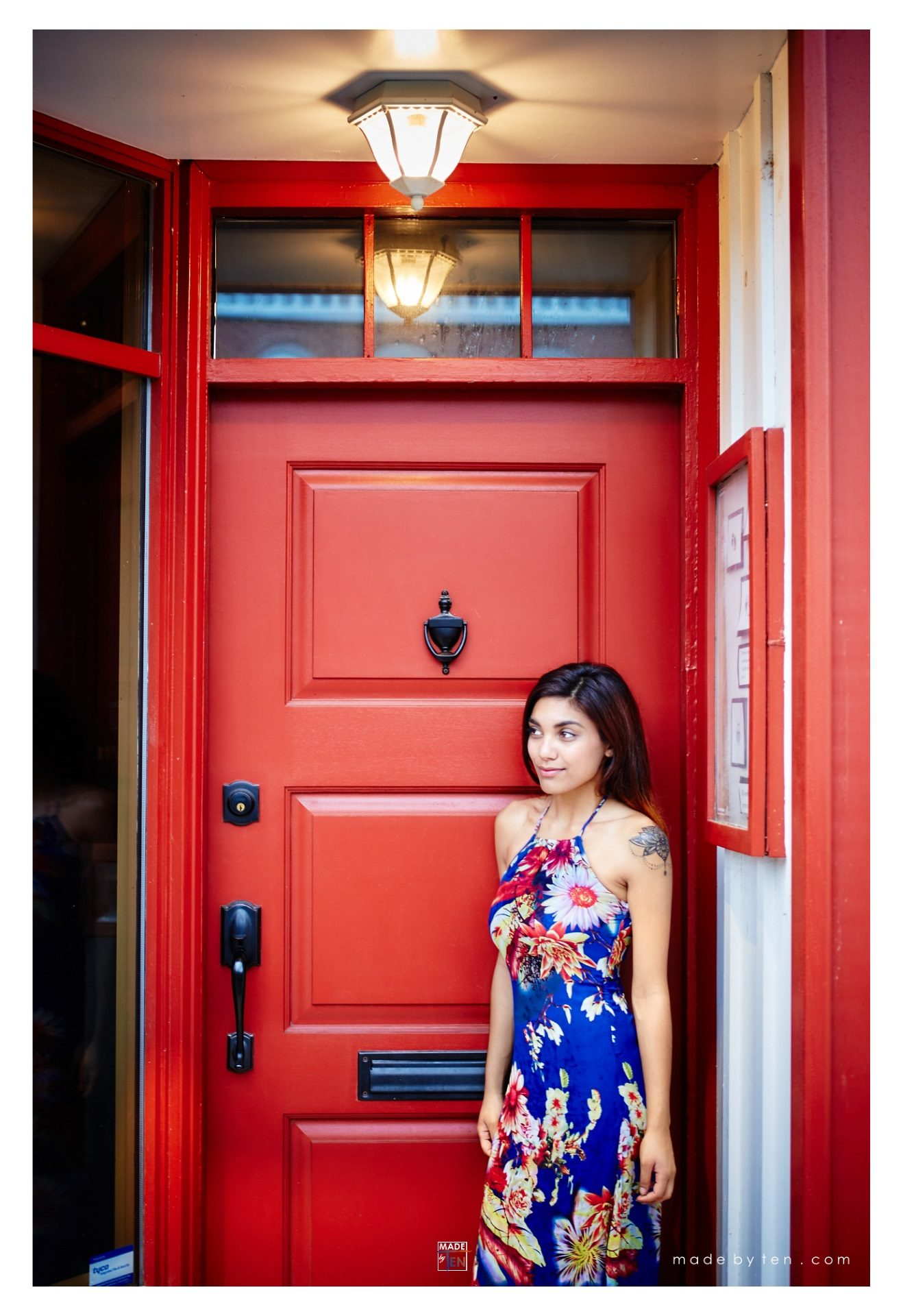 Woman Red Door Fashion Editorial - GTA Women Lifestyle Photography