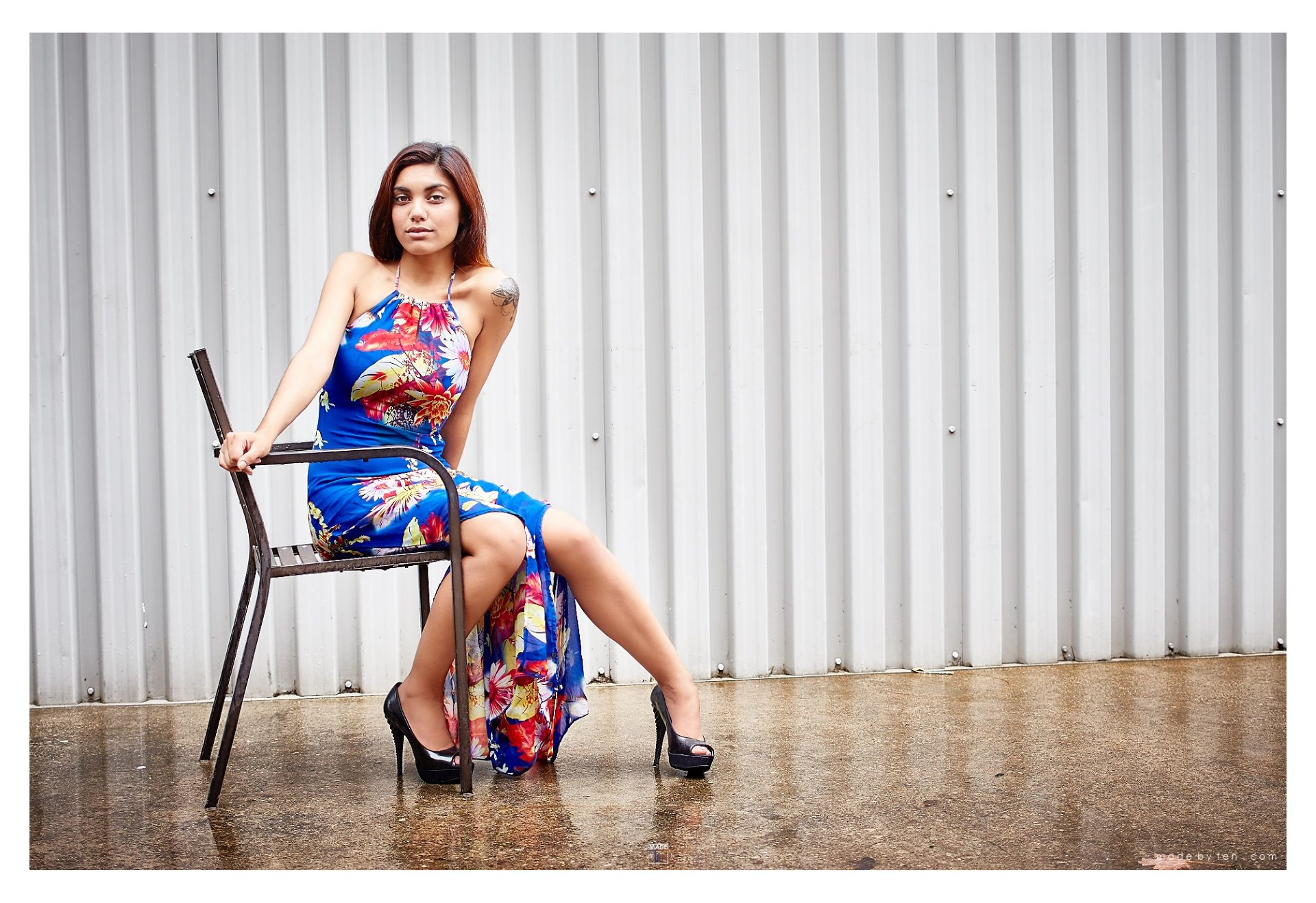 Woman Rain Sitting Fashion Editorial - GTA Women Lifestyle Photography