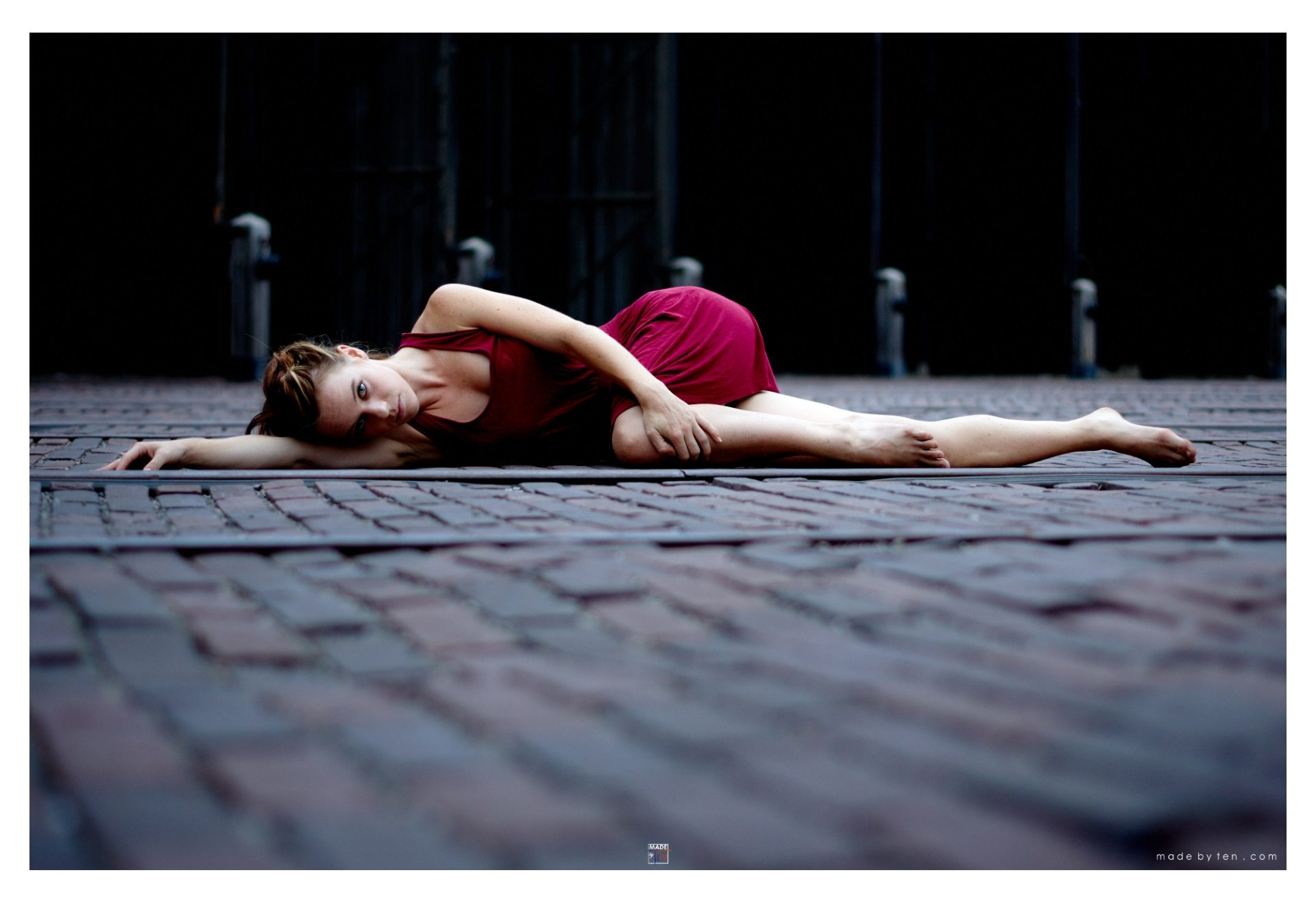 Woman Lying Down Stone Sensual Portrait - GTA Women Lifestyle Photography