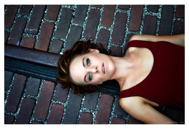 Woman Lying Down Stone Portrait - GTA Women Lifestyle Photography