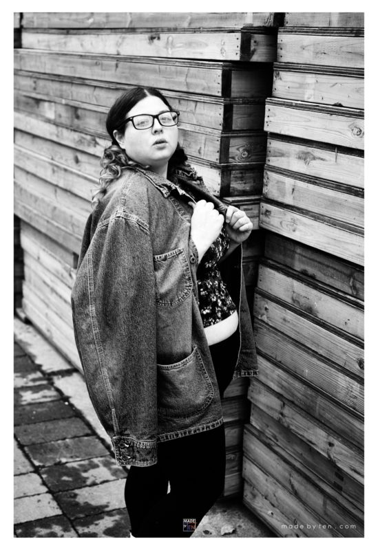Woman Shipping Crate Fashion Editorial - GTA Women Lifestyle Photography