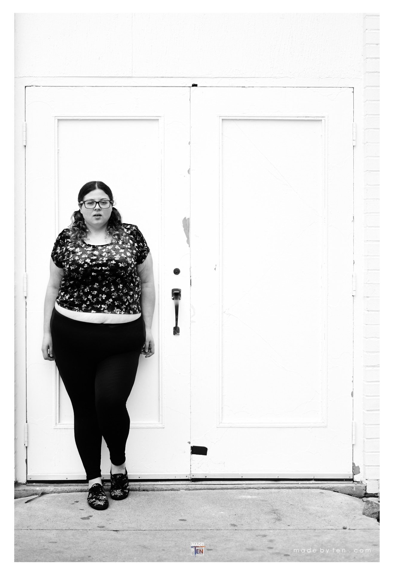 Woman White Door Fashion - GTA Women Lifestyle Photography