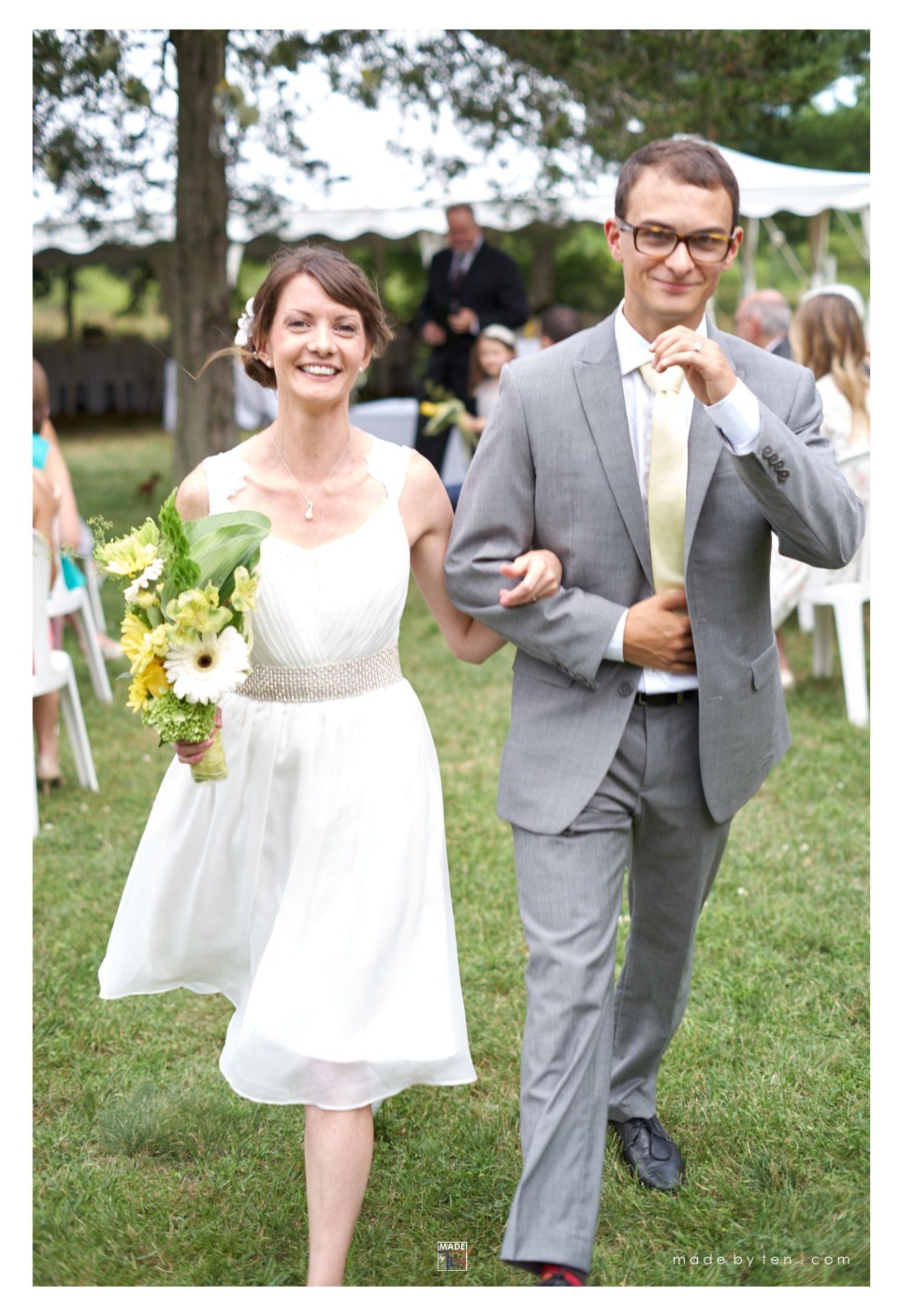 GTA Wedding Photography Walking Down the Aisle