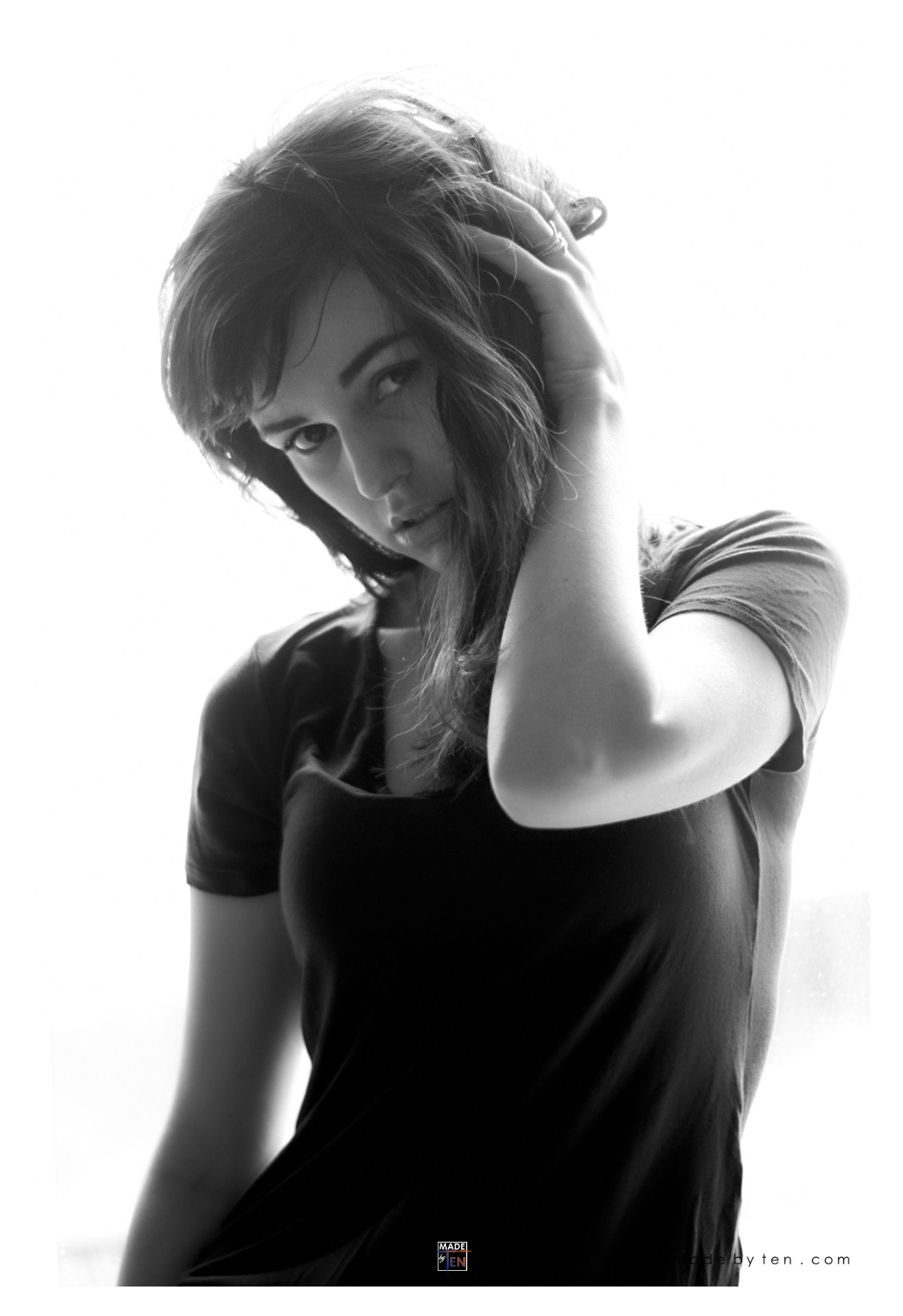 Woman Modern Boudoir Pin-up Livingroom - GTA Women Portrait Photography