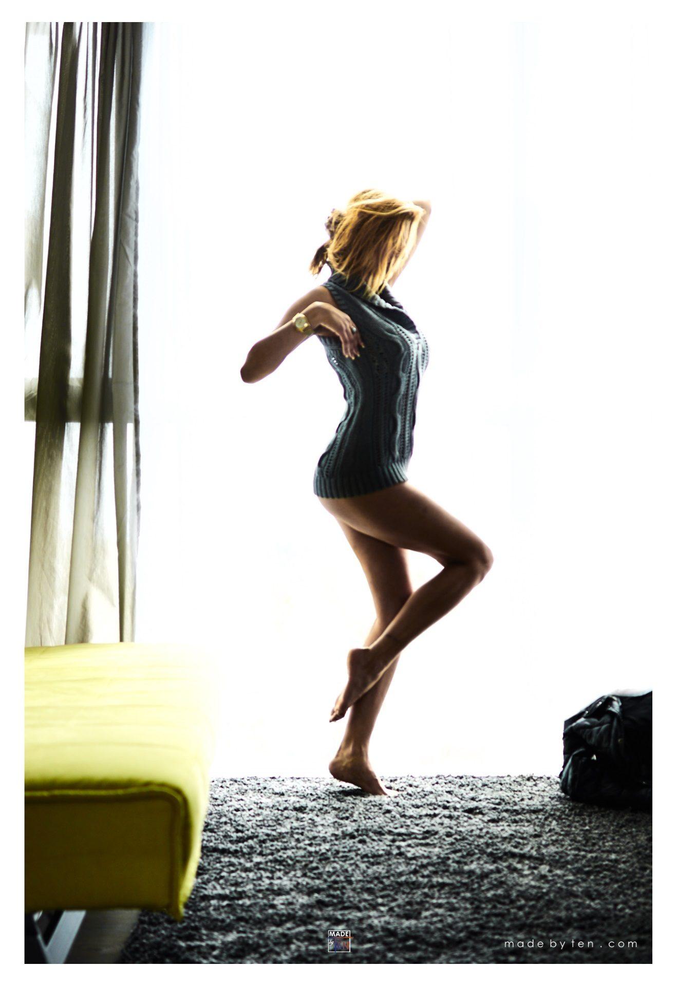 Woman Modern Boudoir Pin-up Window - GTA Women Portrait Photography
