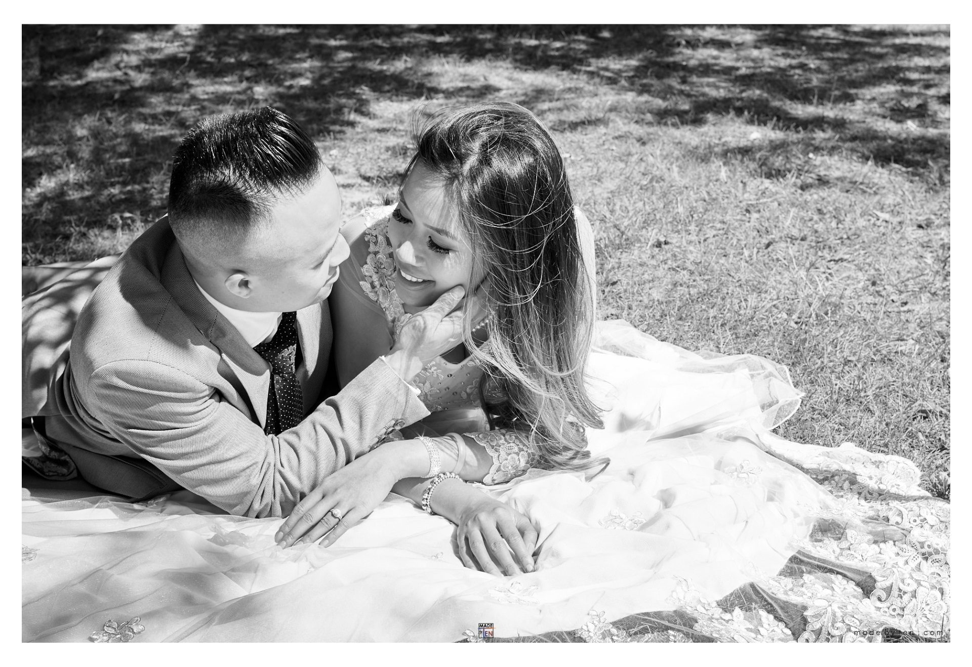 Lying Grass Engagement - GTA Women Couple Photography