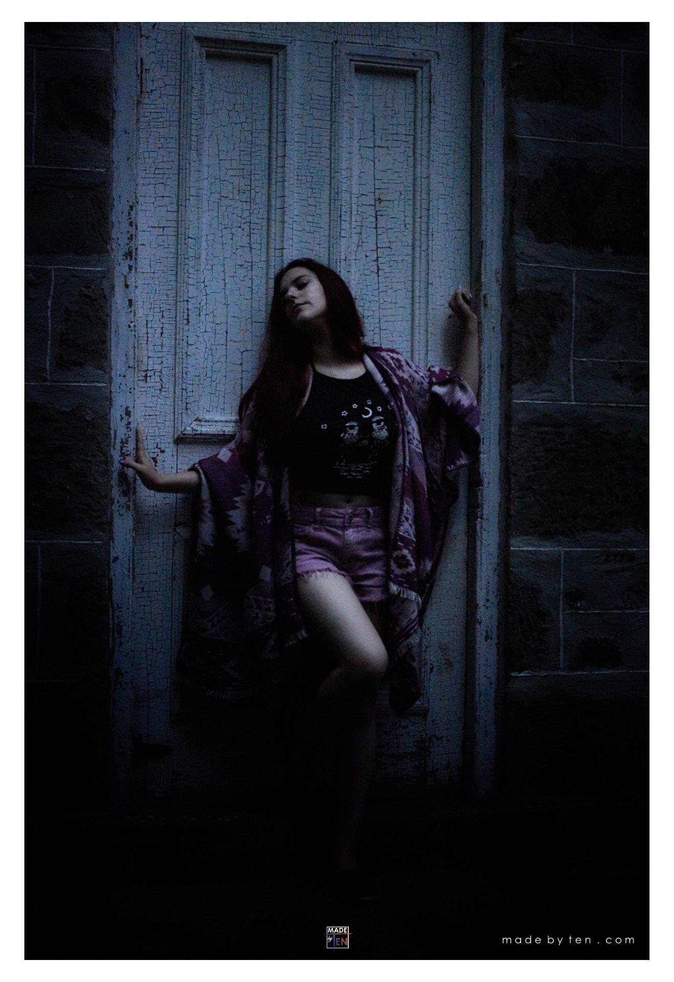 Woman Moonlight Door - GTA Women Fine Art Photography