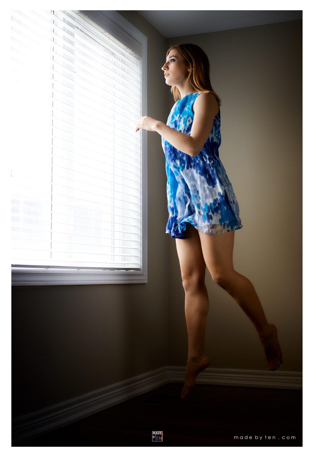 Woman Dress Jump- GTA Women Fine Art Photography
