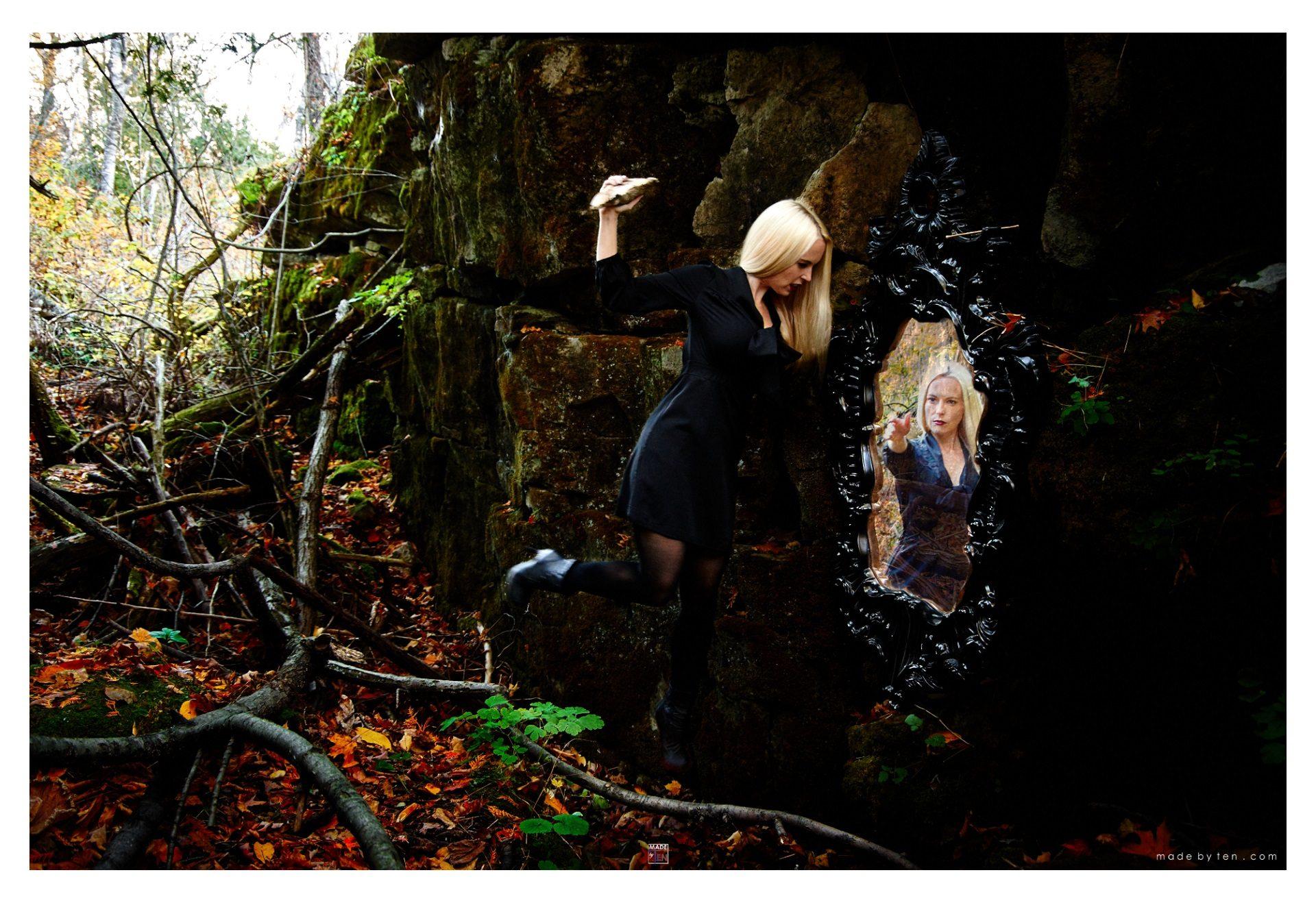 Smashing Reflection - GTA Women Toronto Fantasy Photography