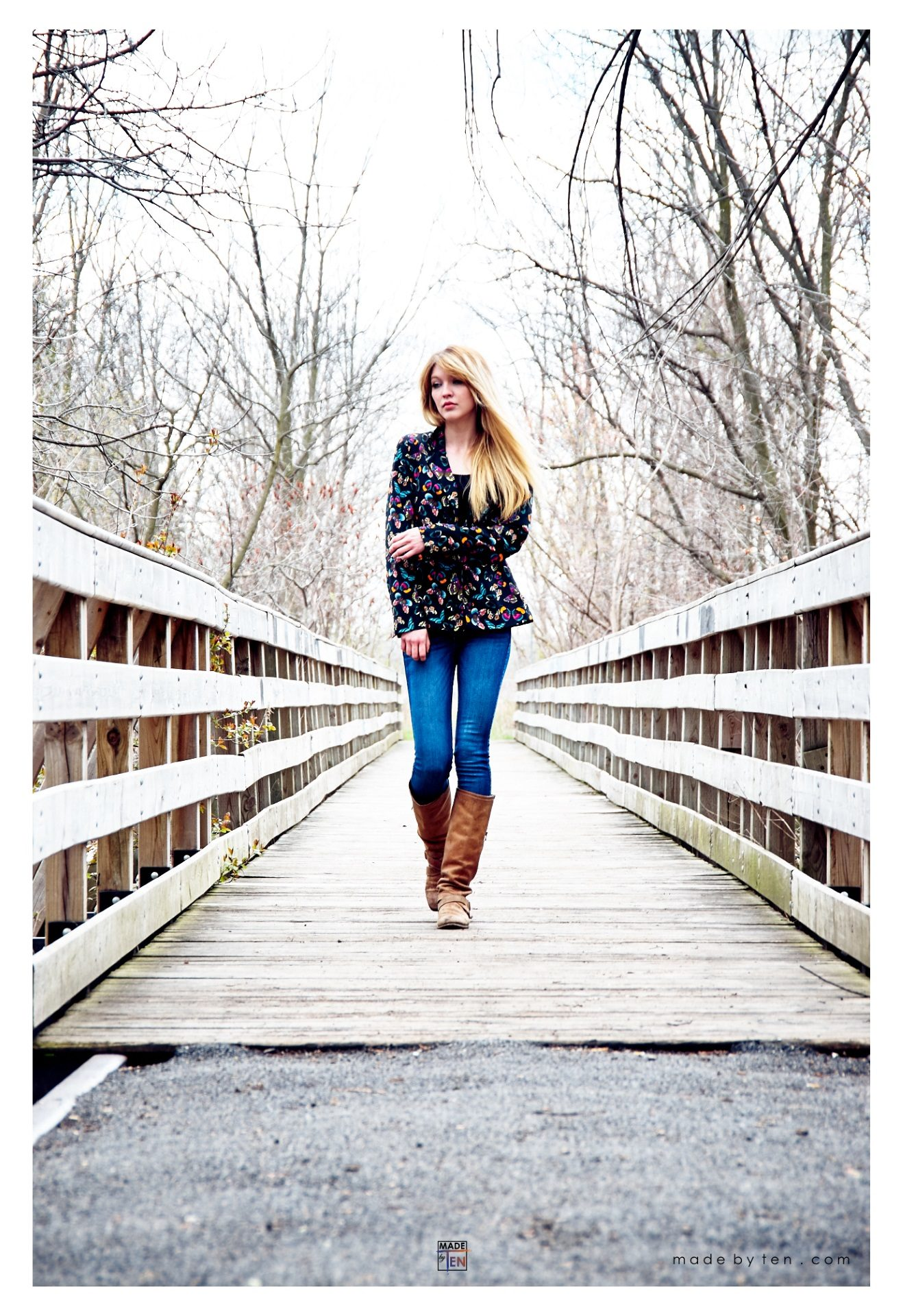 Woman Bridge Walking - GTA Women Lifestyle Photography