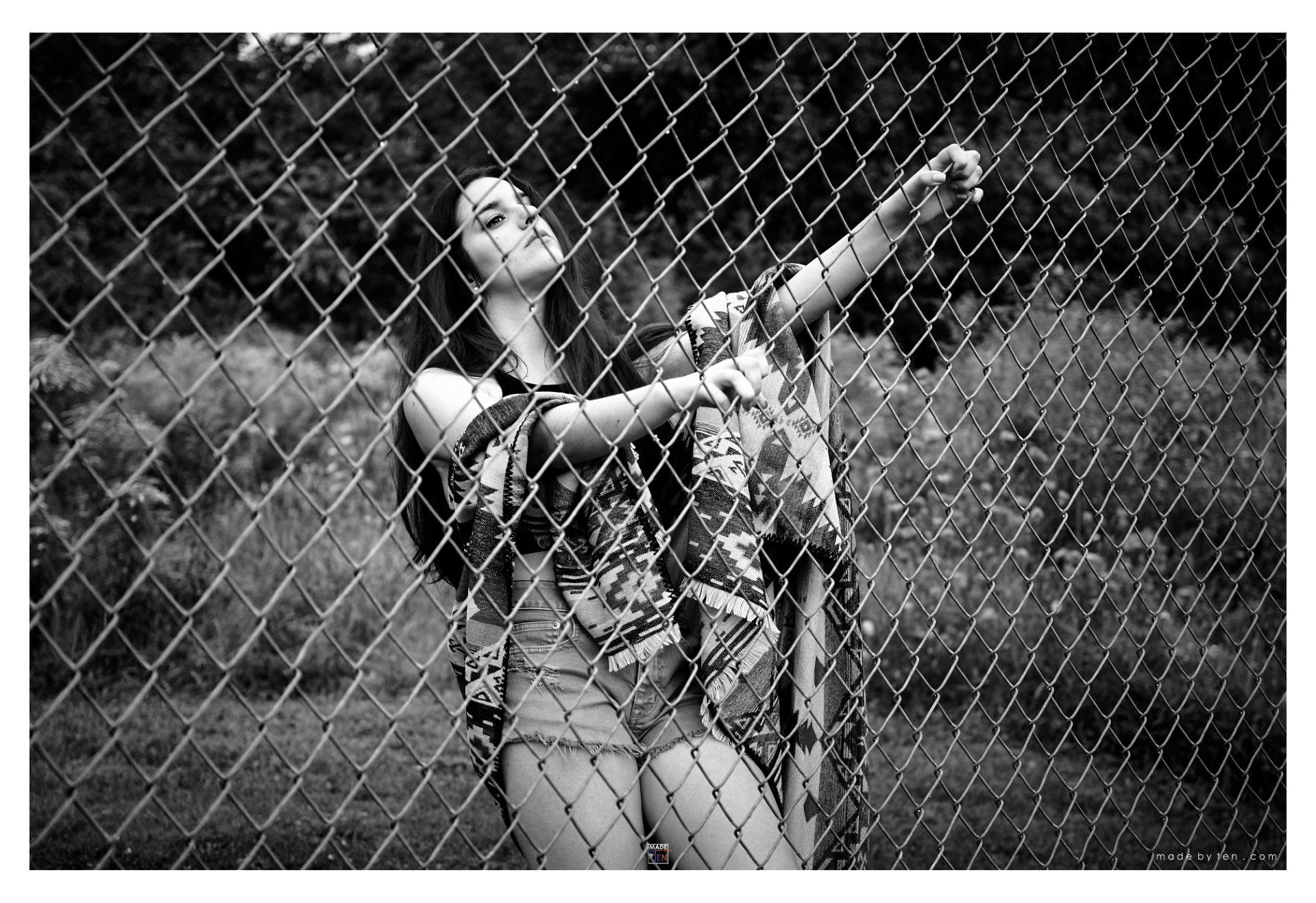 Woman Fashion Fence Field - GTA Women Lifestyle Photography