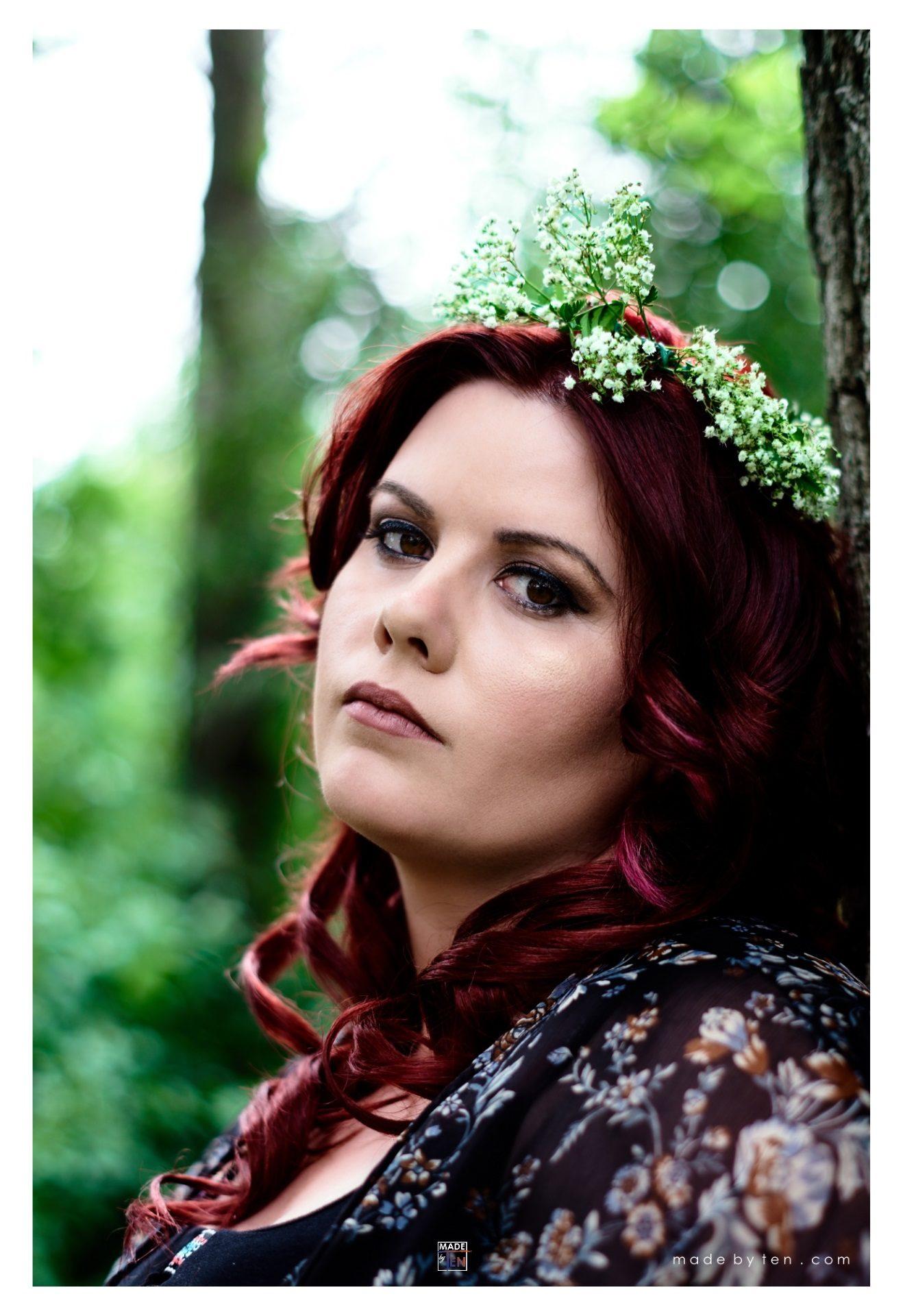 Woman Earth Child Beautiful Flower Crown - GTA Women Fantasy Photography