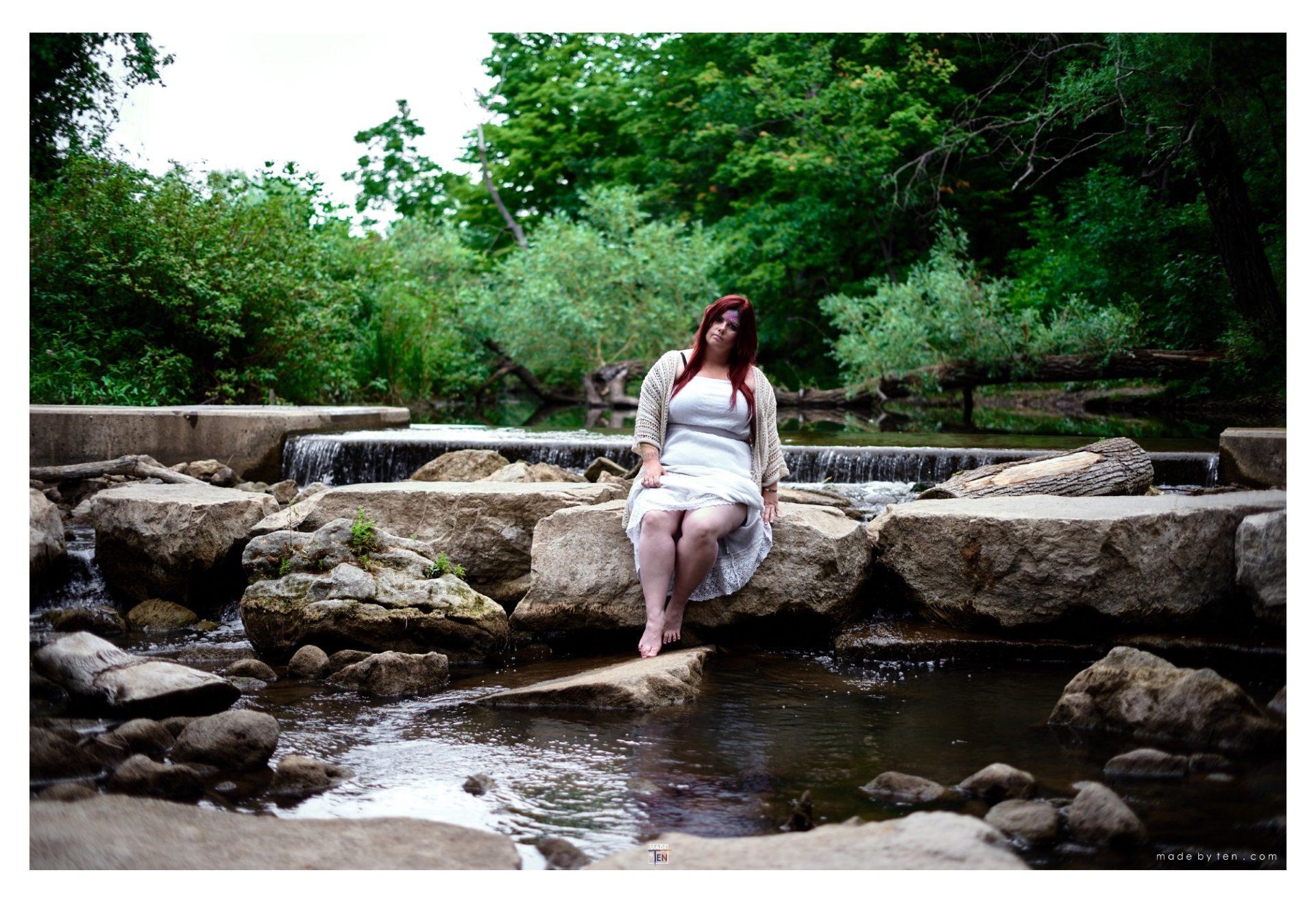 Woman Rock Pond - GTA Women Fantasy Photography