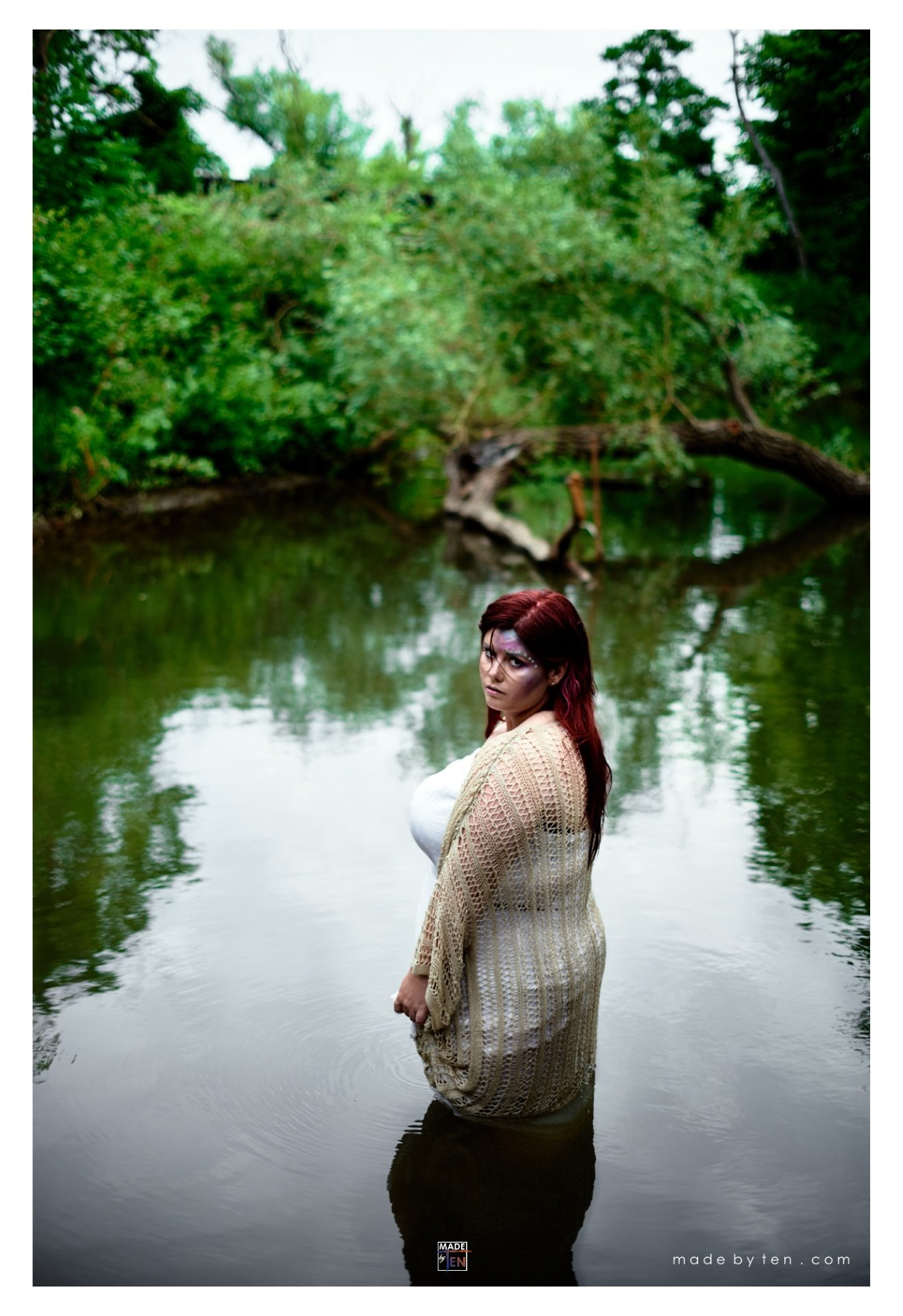 Woman Standing in Pond Water - GTA Women Fantasy Photography