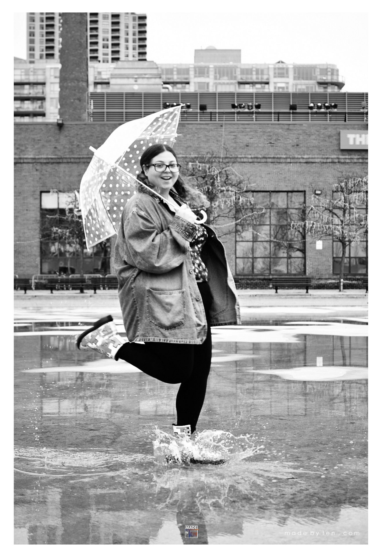 Woman Rain Puddle Splash - GTA Women Lifestyle Photography