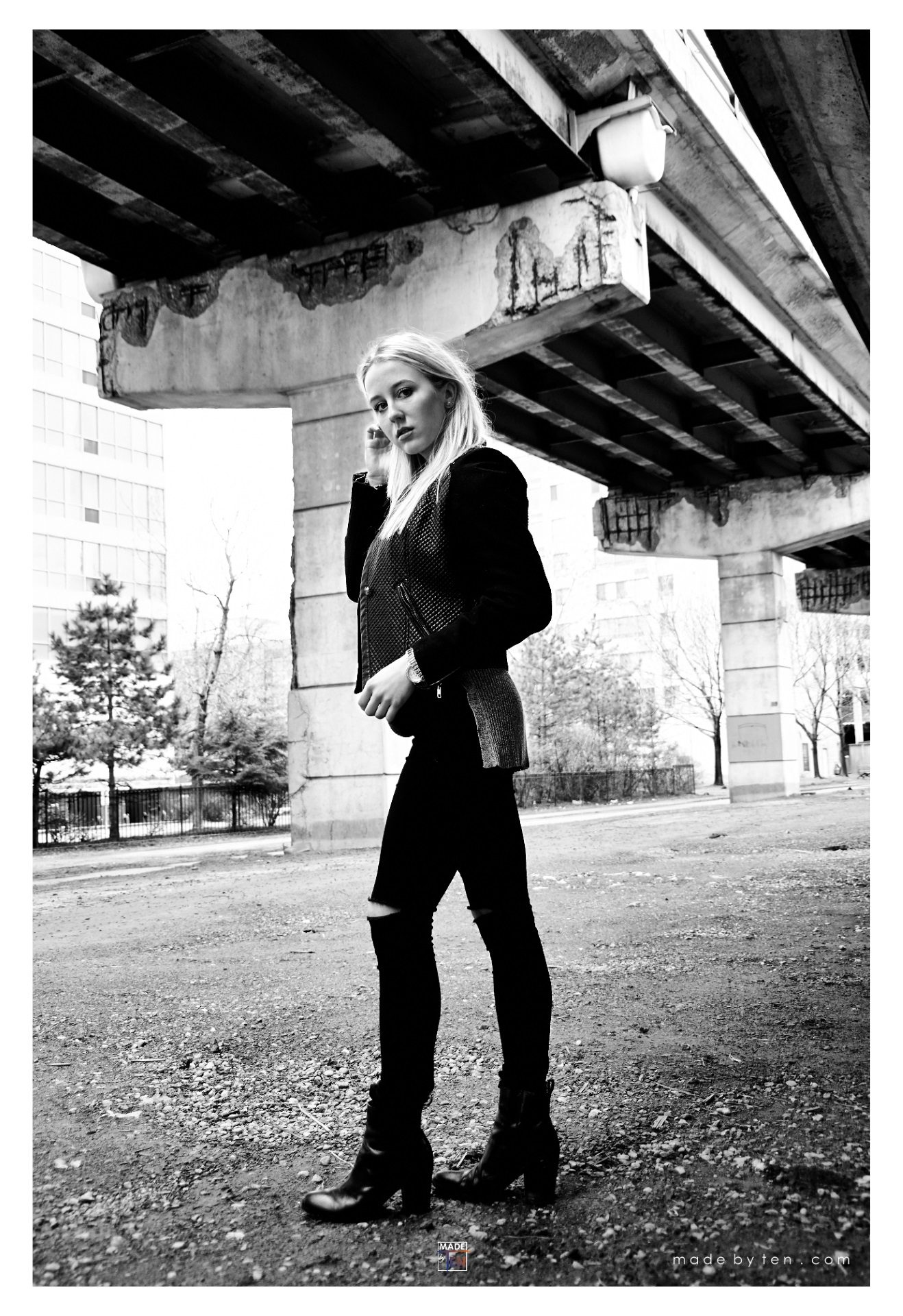 Woman Under Bridge Fashion - GTA Women Lifestyle Photography