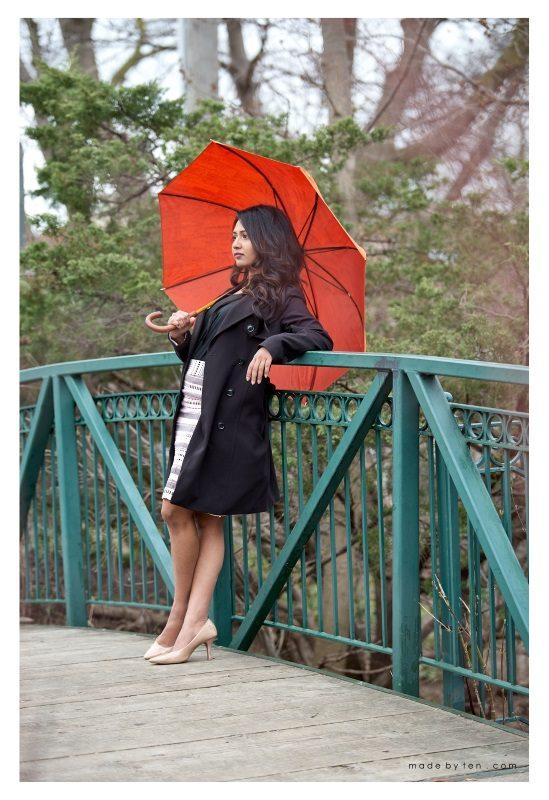 Park Fashion Portrait Rain Umbrella