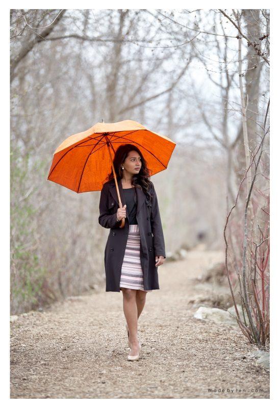 Park Fashion Portrait Rain Nature