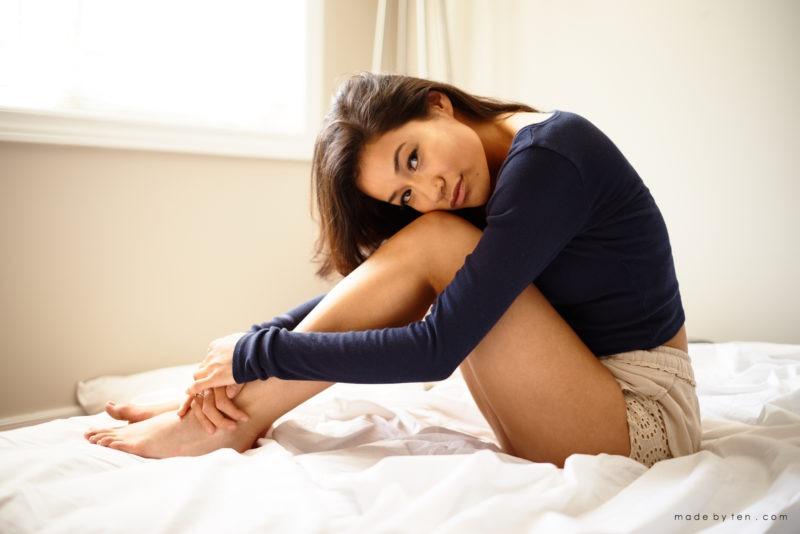 Bed Confidence Portrait Photographer GTA Ontario