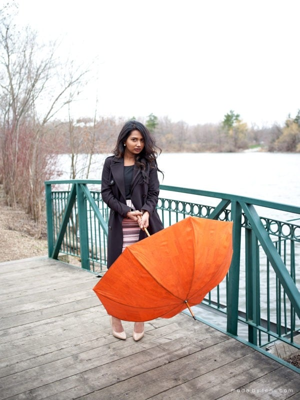 Outdoor Umbrella Fashion Portrait Photographer GTA Ontario