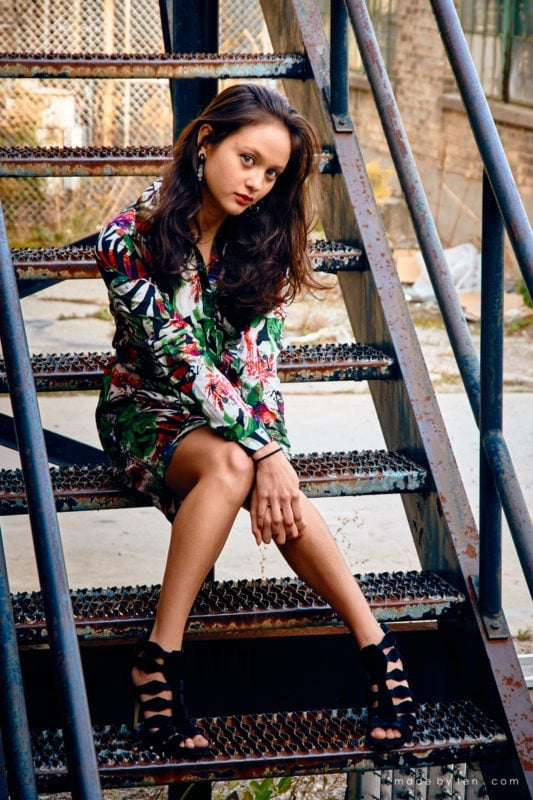 Stair Fashion Confidence Portrait Photographer GTA Ontario