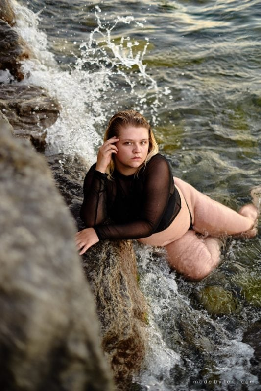 Beach Waves Confidence Portrait Photographer GTA Ontario