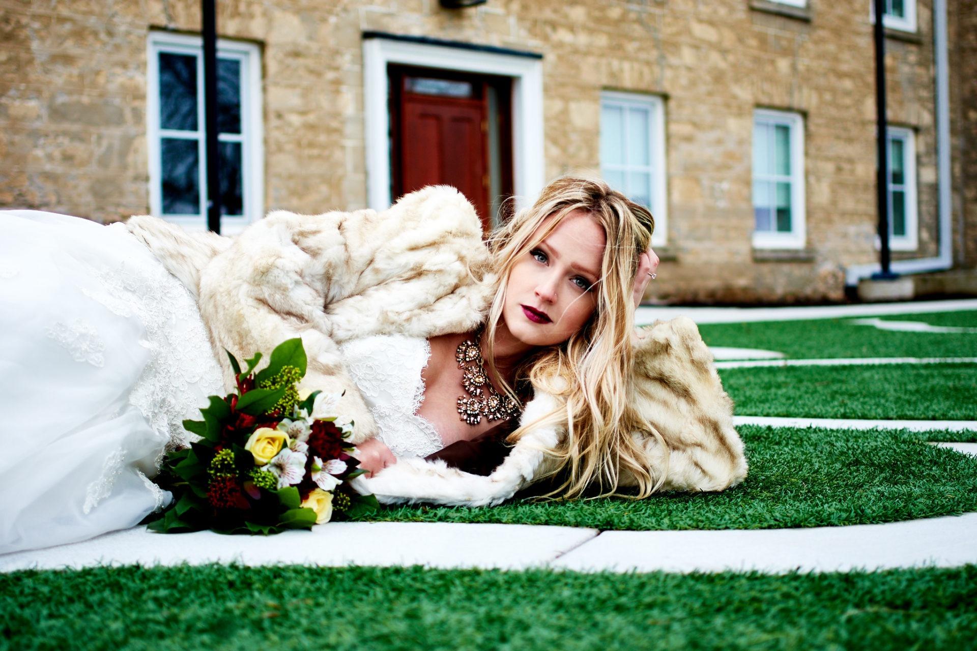 Creative Wedding Portrait of Bride
