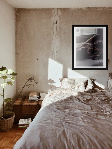 Sensual Boudoir Wall Art of Woman in Bedroom